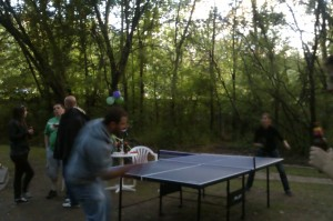 Table Tennis at the Party in Sofia