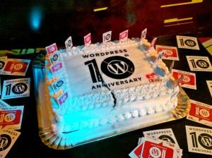 WordPress Anniversary's Cake - Recife, Brazil