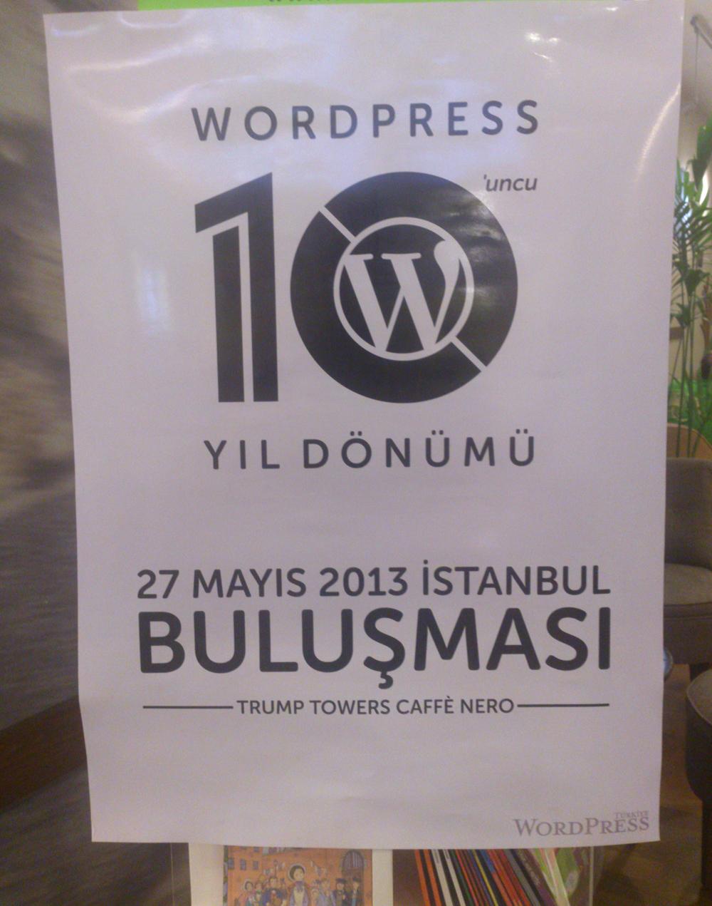 Wordpress 10. Yıl Buluşması Istanbul
